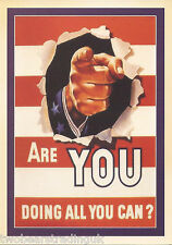 Postcard: Are You Doing All You Can? (General Cable Corp 1942 Poster) (2014)