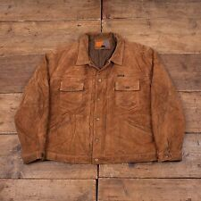 "Mens Diesel Work Apparel Vintage Quilt Lined Suede Jacket Brown XL 48"" R4123"