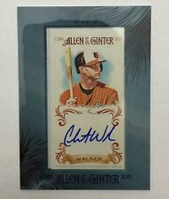 Christian Walker Framed Mini Auto 2015 Topps Allen & Ginter Autograph Orioles SP
