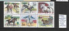 Sweden 1990 Equestrian Games booklet pane MNH
