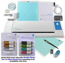 Silhouette Cameo V2 Digital Cutting Machine Pens, X-tra Mat, Hook, Fabric Blade