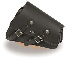Left Side PVC Heavily Slanted Swing Arm Bag w/ Interior Gun Pocket for Harley's