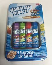 Lotta Luv Hawaiin Punch 4 Flavored Lip Balms In Collector Tin New Chap Sticks