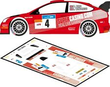 DECALS 1/43 FORD FOCUS WRC - #4 - BIRD - RALLYE MANX TELECOM 2009 - D43156