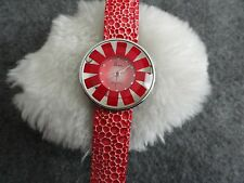 Sun Quartz Ladies Water Resistant Watch - Red and Pretty!