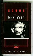 ECHOES by Richard Matheson, rare French horror pulp vintage pb