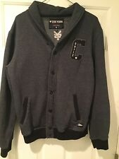 """ ZOO YORK"" BUTTON UP MENS SWEATSHIRT BY ""CHAZ ORTIZ"" SIZE M NEW YORK VN COND."
