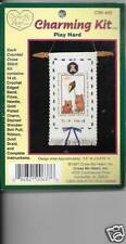 KIDS PLAY HARD CHARMING BANNER  NEW   COUNTED CROSS STITCH KIT