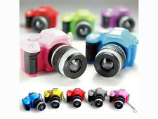 GEE Colorful Mini SLR Camera Keychain Keyring Pendant Flash Ornament Decoration