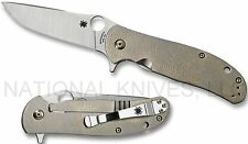 "Spyderco Advocate C214TIP Folding Knife, 3.5"" CPM-M4 Blade, Titanium Handle"