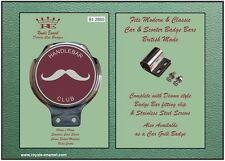 Classic Car Motorcycle Badge & Bar Clip - THE HANDLEBAR CLUB - 1960's - B1.2880