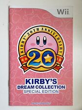 Kirby's Dream Collection Special Edition Wii Nintendo Manual Instruction Booklet