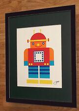 Vintage Robot wall art - Judith prints - 20''x16'' frame, vintage robots