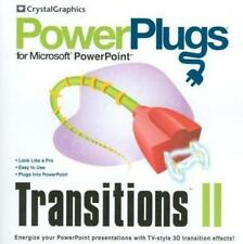 PowerPlugs Transitions II 2 2002 Office XP Powerpoint 3D TV presentation effects