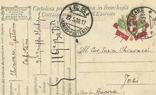 Grande Guerra cartolina R. Esercito Italiano Corrispondenza in Franchigia 1918