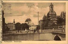 Amsterdam Niederlande alte s/w Ansichtskarte 1927 gelaufen Mulderpoort Brücke