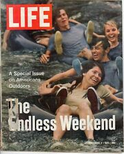 LIFE Sep 3 1971 Special Issue America at Play. Rock-climbing, Houseboats, Camp