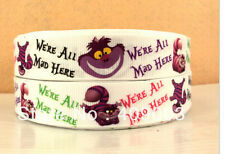 We're All Mad in Here Ribbon Alice in Wonderland Cheshire Cat
