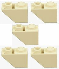 Missing Lego Brick 3665 Tan x 5 Slope Brick 45 2 x 1 Inverted