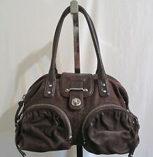 Botkier Bianca Dark Brown Lambskin Leather Silver Hardware Satchel Handbag
