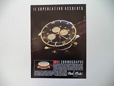 advertising Pubblicità 1991 OROLOGIO PAUL PICOT LE CHRONOGRAPHE