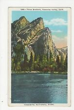 USA, Yosemite National Park, Three Brothers Postcard, A815