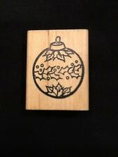 RUBBER STAMP CHRISTMAS BULB ORNAMENT