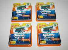 4 Packs of 8 Total 32 Genuine Gillette Fusion Proglide Power Shaving Cartridges