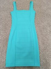 French Connection Turquoise Bodycon Dress Size 6 8