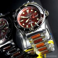 Men's Invicta Grand Diver Red Sandalwood Woodie 47mm NH35A Automatic Watch New