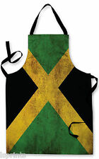 JAMAICA GRUNGE FLAG APRON KITCHEN BBQ COOKING PAINTING FATHERS DAY GREAT GIFT