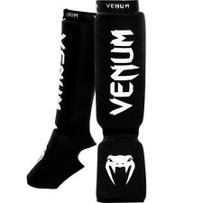 Shin Guards & Instep Black Mixed Martial Arts Kickboxing MMA Protection Kontact