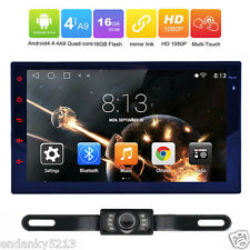 "Mirror Link OBD2 Quad-Core 2Din 7""Android 4.4 OS Car Stereo GPS Radio 1080P USB"