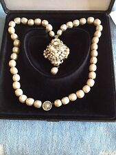 Sale - Vintage Signed Miriam Haskell Baroque Style Costume Pearl Necklace
