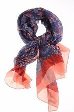 $138 Marc by Marc Jacobs Spray Paint Snake Print Rose Blush Multi-Color Scarf OS