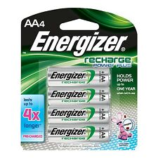 Energizer Recharge Power Plus AA 2300 mAh Rechargeable Batteries, [NH15BP4] NEW