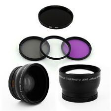 HD Wide Angle Tele Lens Kit + IR950 Filters for Nikon D50 D60 D70 D100 D3100 cam