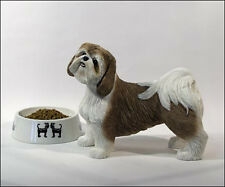 Lifesize Gold/White Shih Tzu Figurine