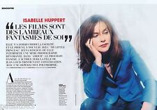 COUPURE DE PRESSE CLIPPING 2011 Isabelle Huppert  (6 pages)