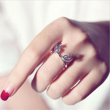 1 Pc Silver plated Deer Horn Adjustable Ring Simple Design Jewelry Decoration