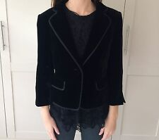 Hobbs Black Velvet Day Evening Jacket 8