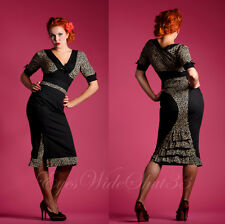 Jupe Longue Taille Haute Pinup vintage Leopard Rockabilly S 36 38 CandyFloss