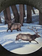 Dominion China 1992 Portraits of the Wild CHANGING DIRECTION : ELK Ltd Ed Plate