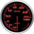 DEFI LINK METER ADVANCE BF TURBO BOOST GAUGE -3 BAR 60MM DF14702 AMBER /RED