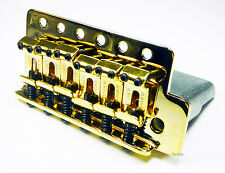 Genuine Fender Tremolo Bridge for MIM/Meixican Strat/Stratocaster Guitar - GOLD