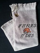 Shooter Towel Skeet Trap Sporting Clays Gray Shooting Towel Clay Targets