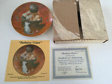 1982 4th Issue BATHTIME VISITOR Carefree Days Child & Kitten Collector Plate