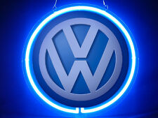neon-0488 VW Volkswagen Car Logo Hub Bar Home Decor Advertising Neon Sign