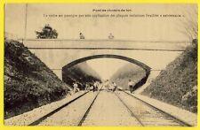 cpa PONT de CHEMIN de FER Ligne de PARIS à MUHOUSE Pub Plaques ANDERNACH à ANVIN