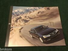 "2002 ACURA TL SALES BROCHURE  MINT ORIGINAL 10"" X 8"" 4 SIDED FOLDER (BOX 660)"